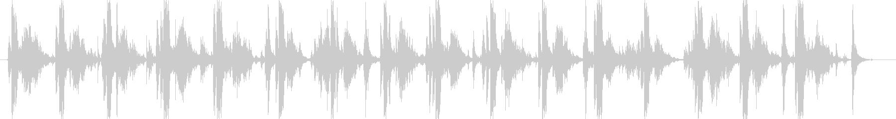 タイプライターの音(強化版)16連打の未再生の波形