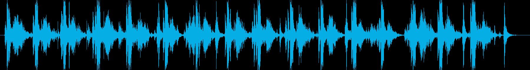 タイプライターの音(強化版)16連打の再生済みの波形