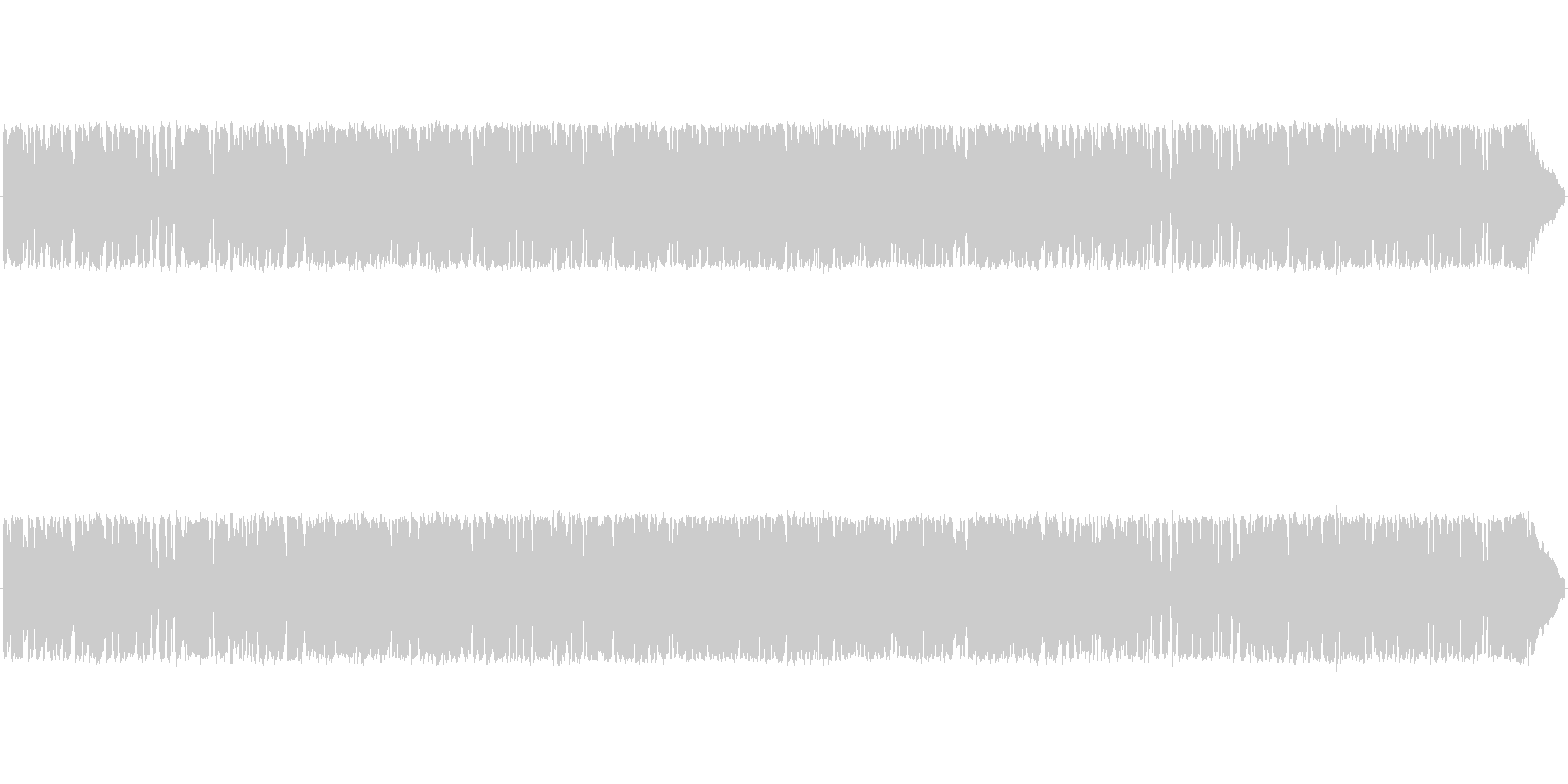 どこか、レトロ感のある、JAZZのBGMの未再生の波形