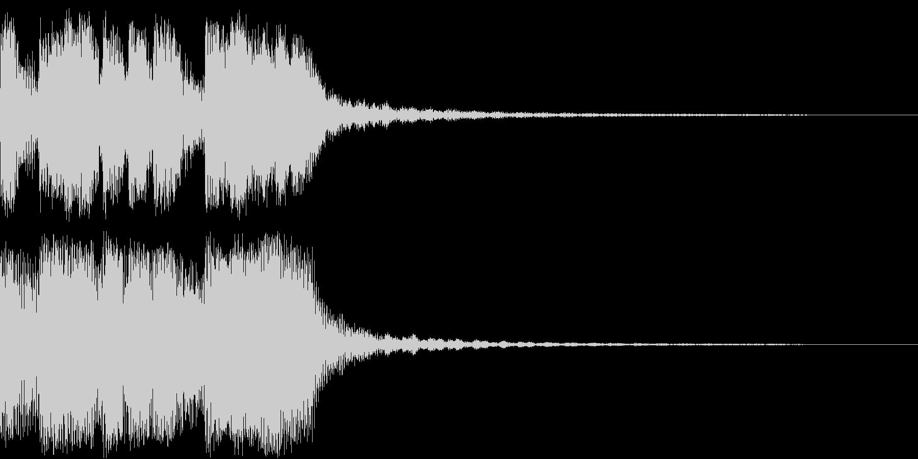 ファンファーレ 当たり 正解 合格 10の未再生の波形