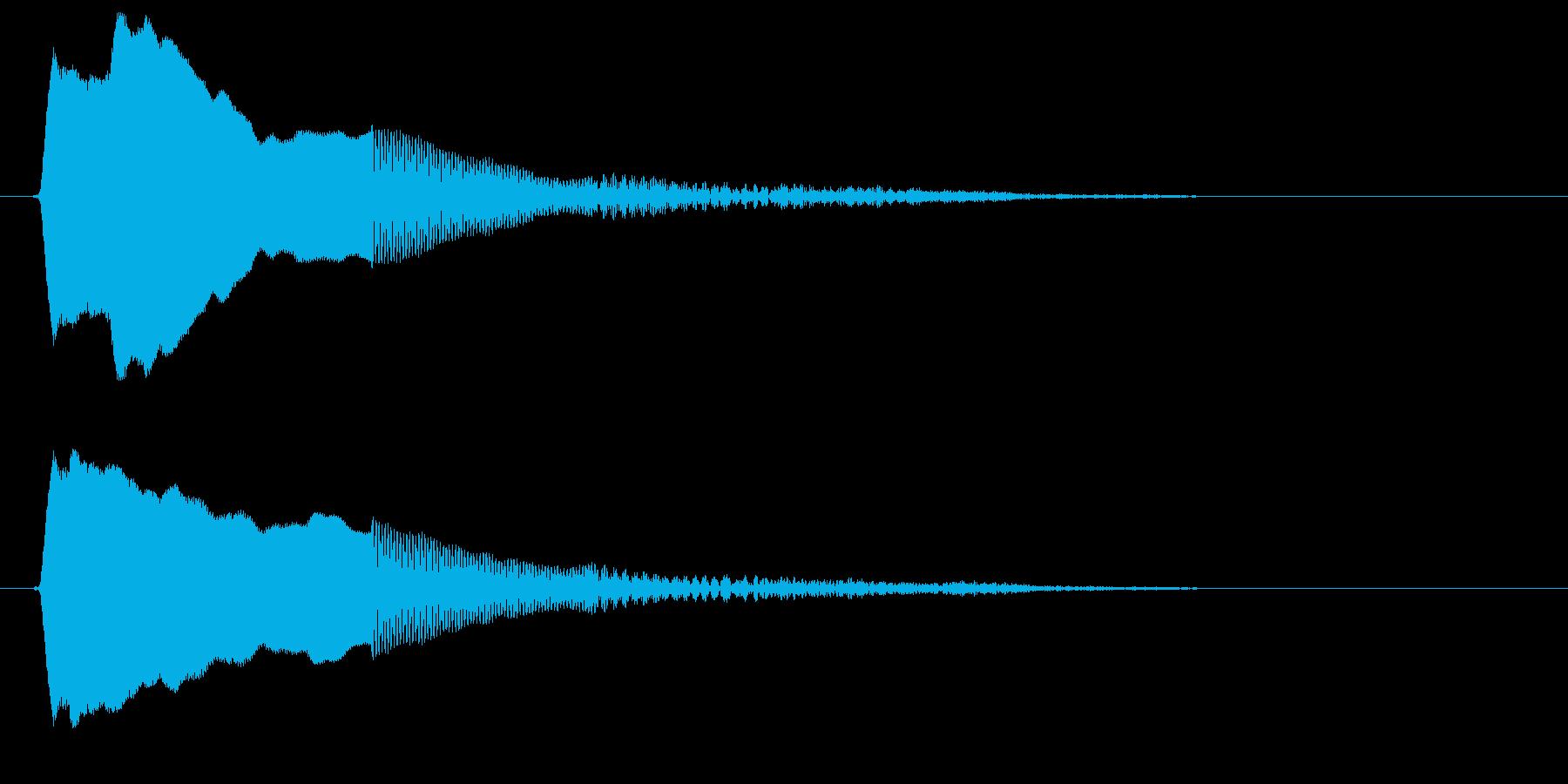 ボクシングのゴングのような音の再生済みの波形