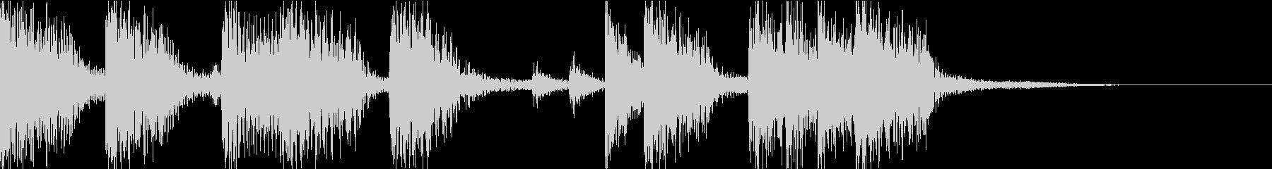 ベースとドラムのコンビネーションジングルの未再生の波形