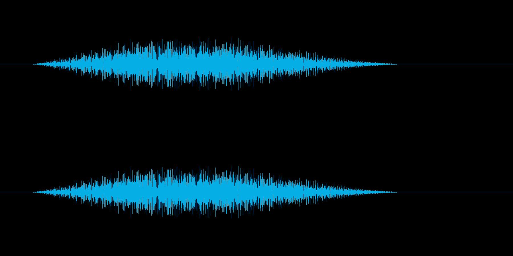 幽霊が出てくるときの音の再生済みの波形