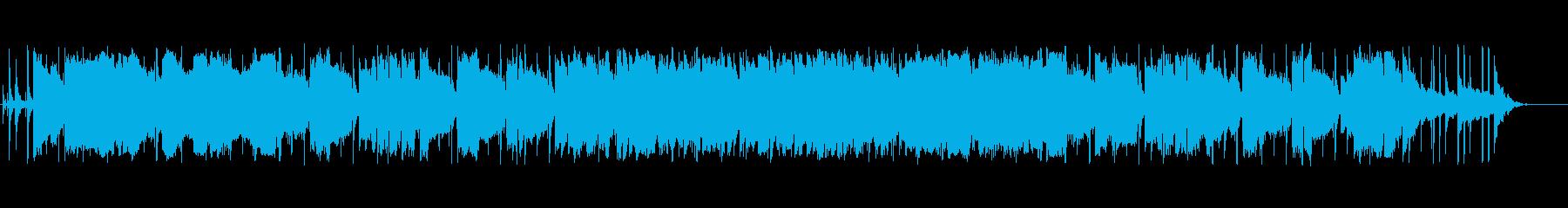 ゆったりとした優しいBGMの再生済みの波形
