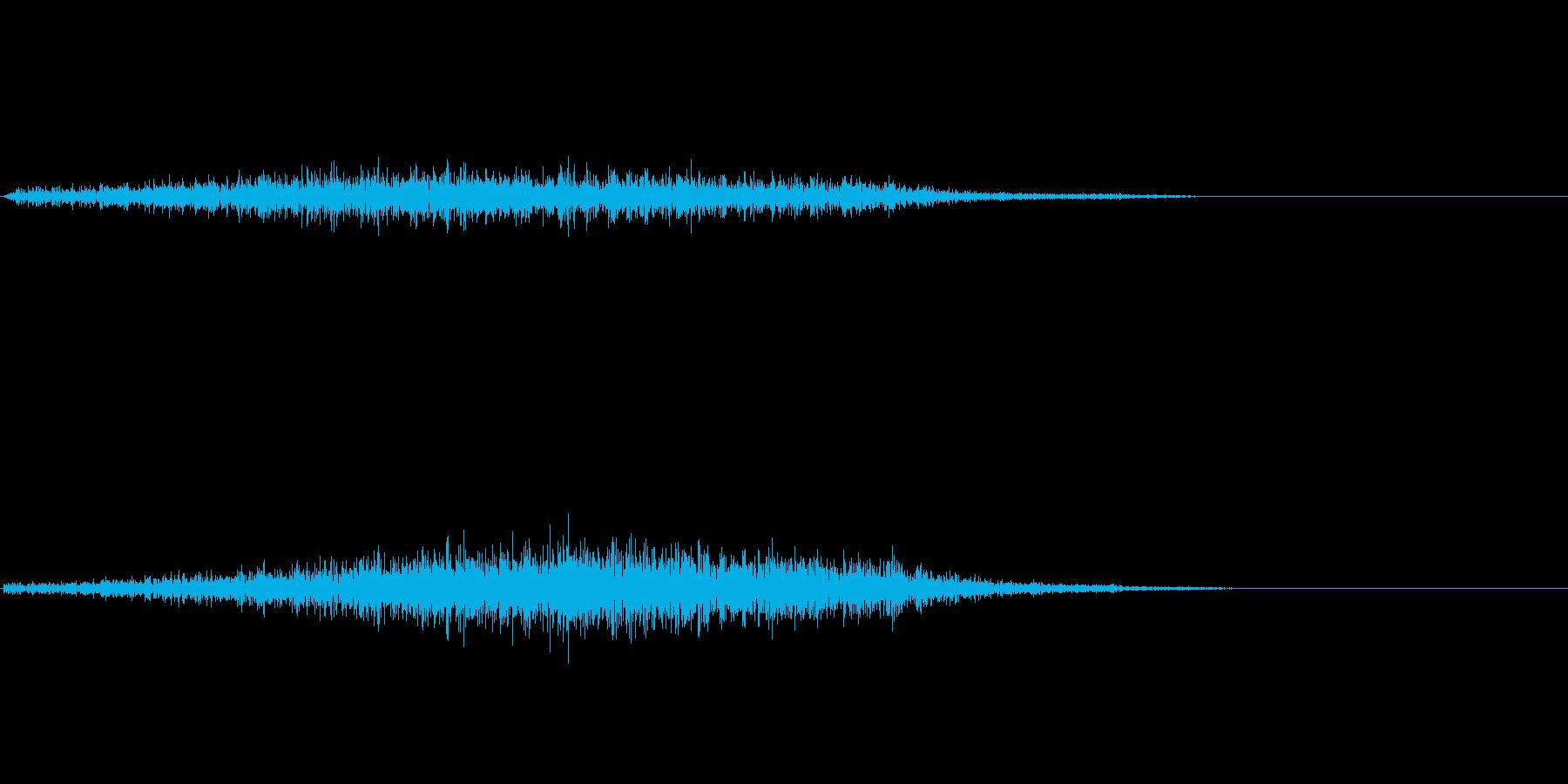 シュッ(袖を通す)の再生済みの波形