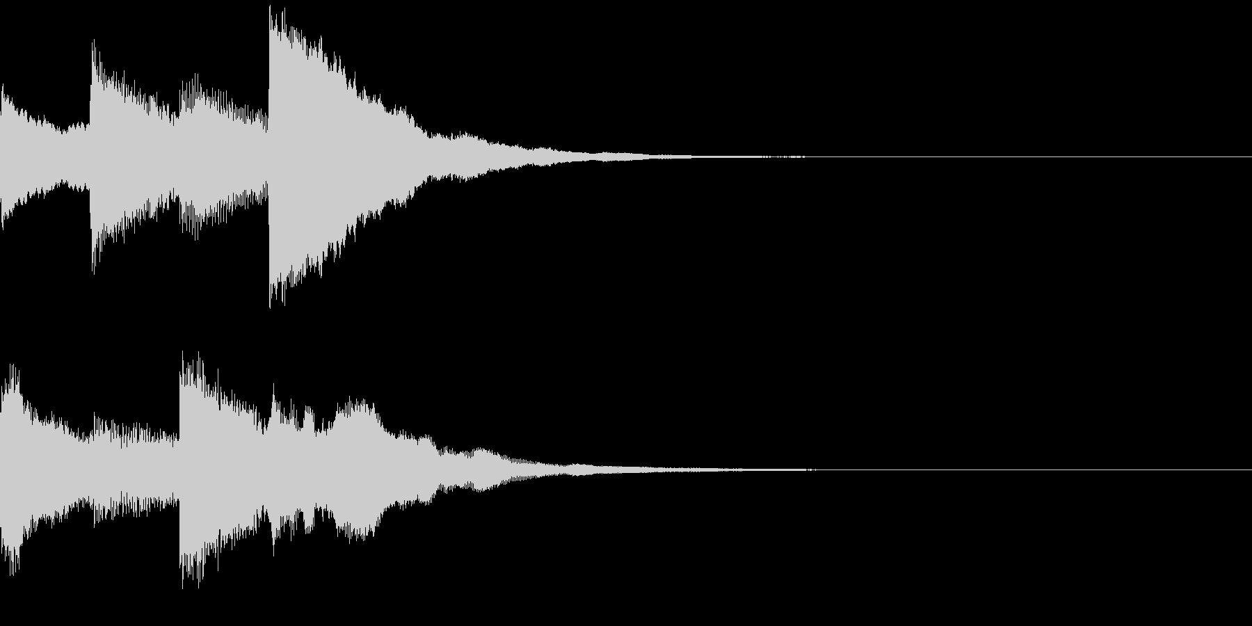 ポンポンパンポン/初め/学校放送/#2の未再生の波形