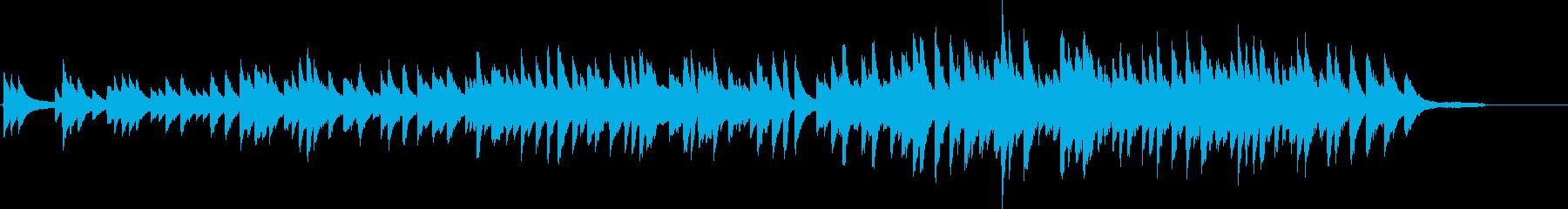 切ないピアノインストの再生済みの波形