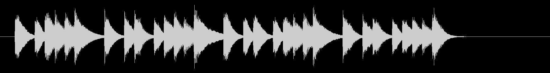 ほっと一息つくピアノジングル 9秒の未再生の波形