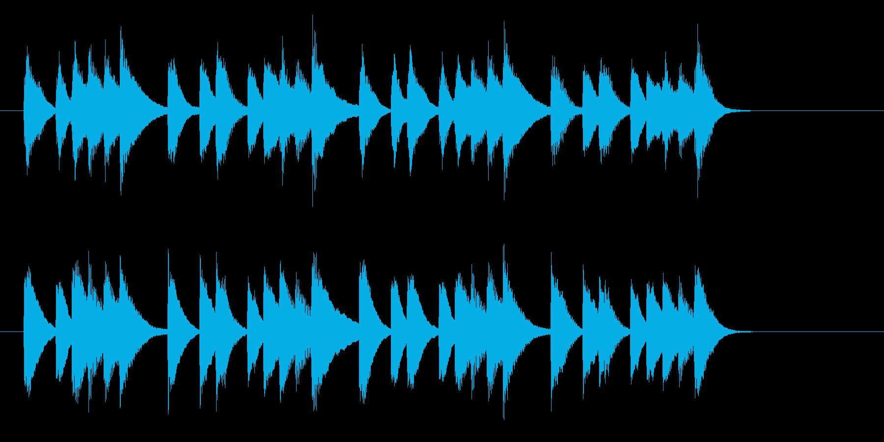 ほっと一息つくピアノジングル 9秒の再生済みの波形