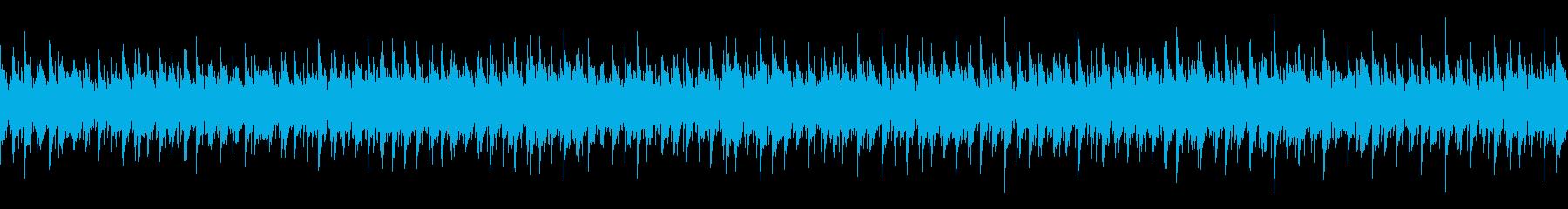 ゆったりしたピアノがメインのボサノバの再生済みの波形