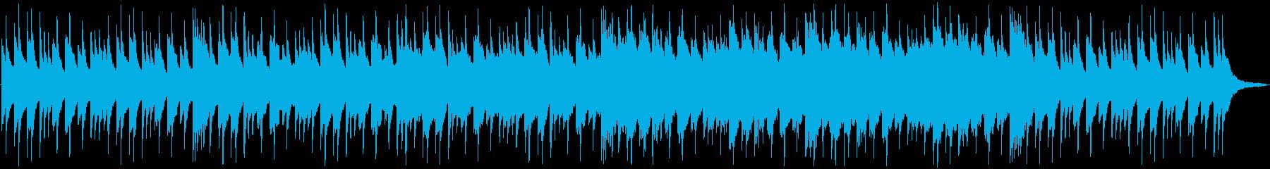 ピアノとストリングスが混ざり合う切ない曲の再生済みの波形