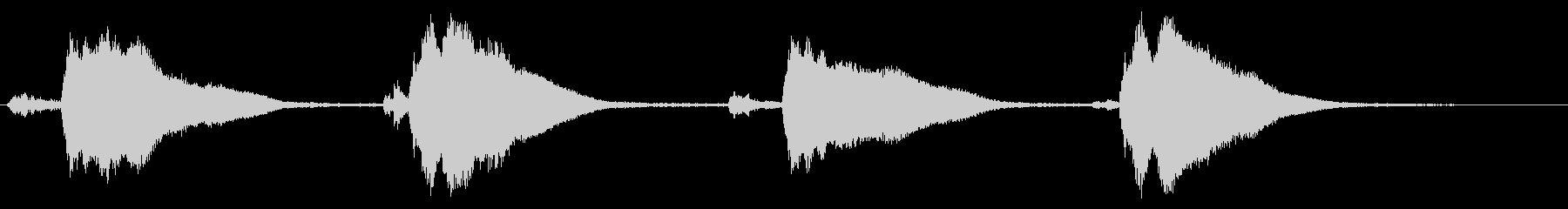 レプトン教会トレブルEベル:4つのリングの未再生の波形
