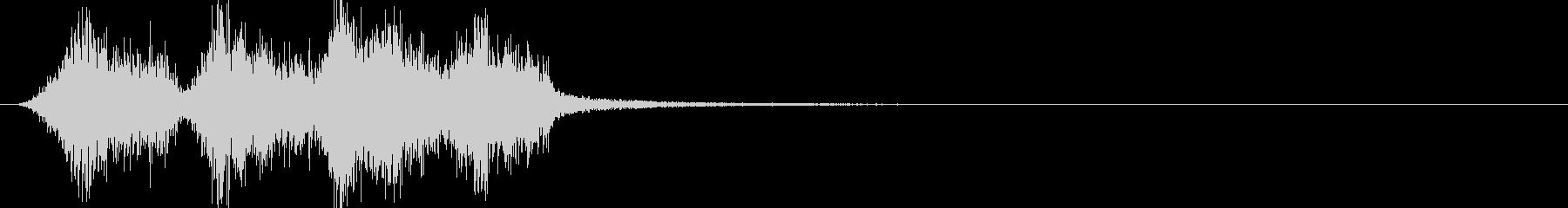 テロップ、説明文の間違いを消す効果音の未再生の波形