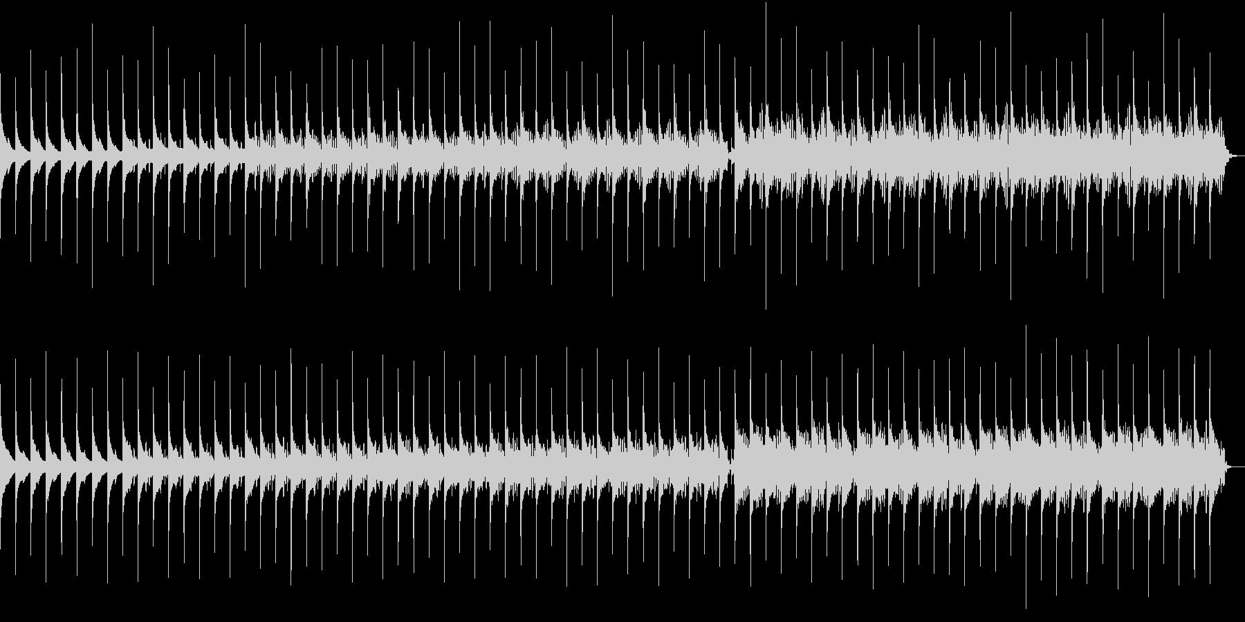 リズムが時を刻む静かなエレクトロニカの未再生の波形