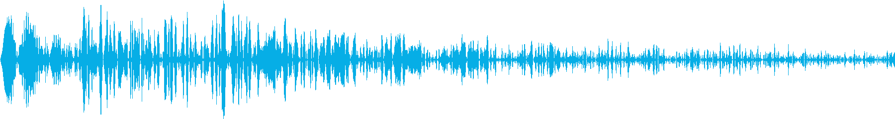 DTM Snare 8 オリジナル音源の再生済みの波形
