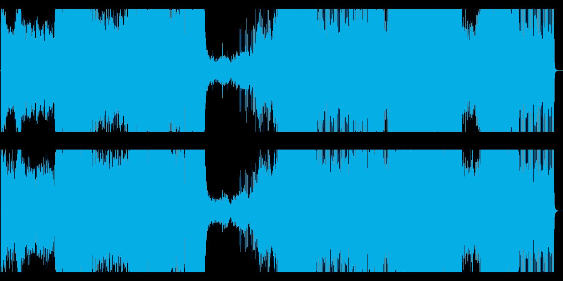 王道的なEDMナンバーの再生済みの波形
