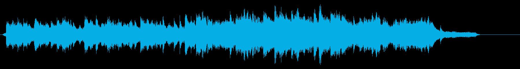 温かい雰囲気の序曲。ピアノとストリングスの再生済みの波形