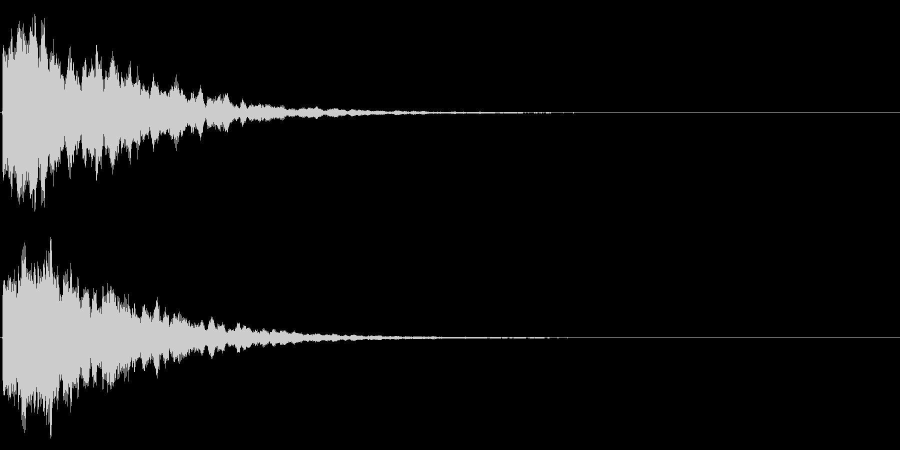 ゲームスタート、決定、ボタン音-174の未再生の波形