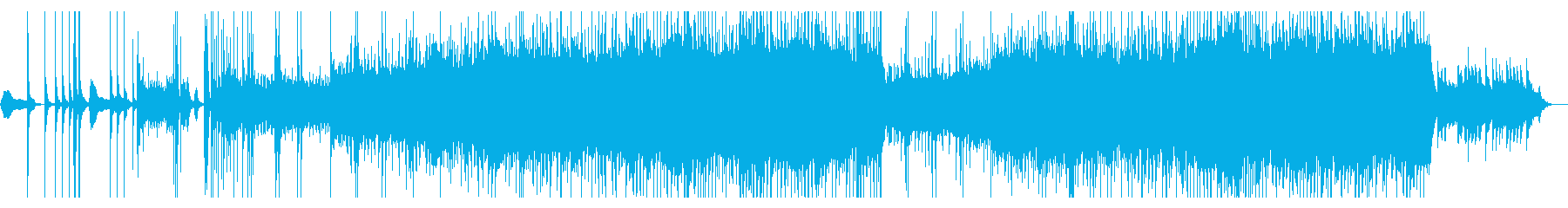 ゲームや物語向けの和風オープニング風曲の再生済みの波形