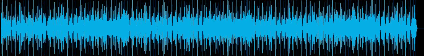 わくわく感のシンセ・ギターなどの曲の再生済みの波形