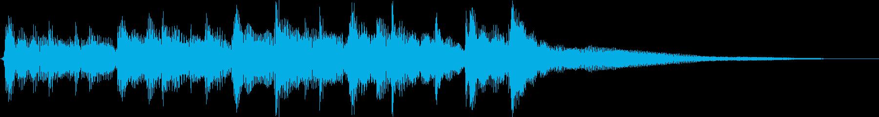 生ギター、キャンプ・DIY動画の転換にの再生済みの波形