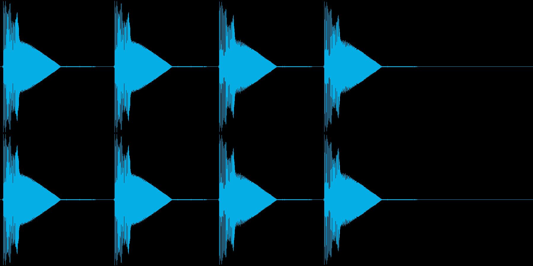 警告・警報・サイレン・ブザー#1の再生済みの波形