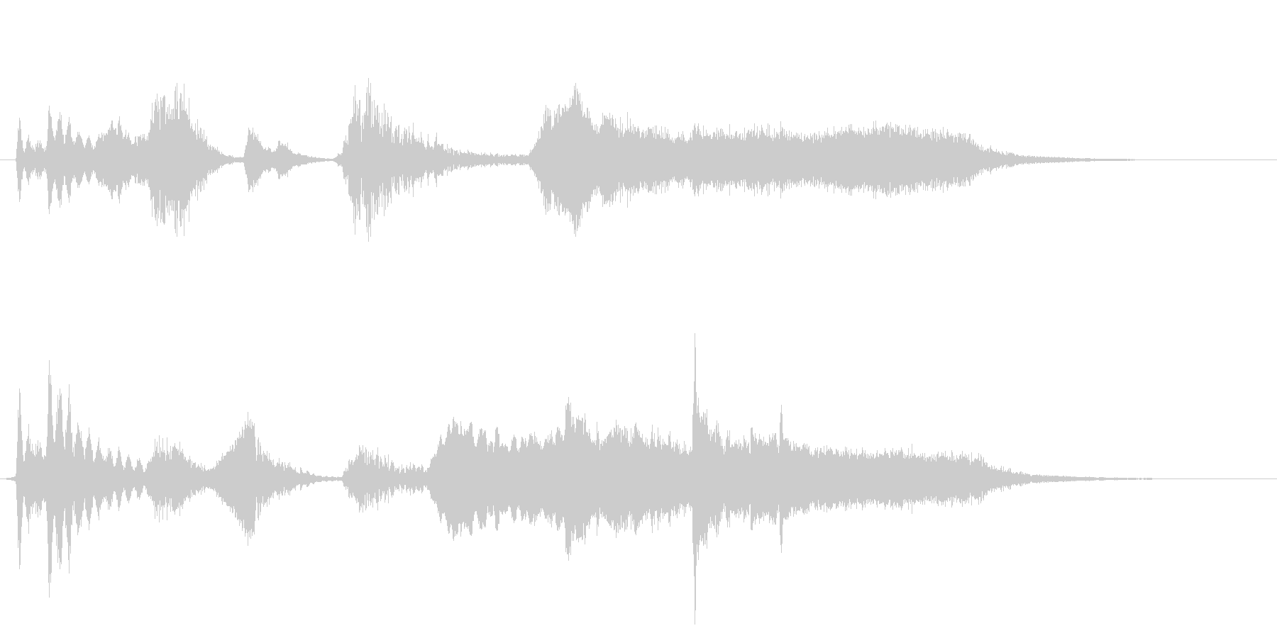 ホラー系の効果音の未再生の波形