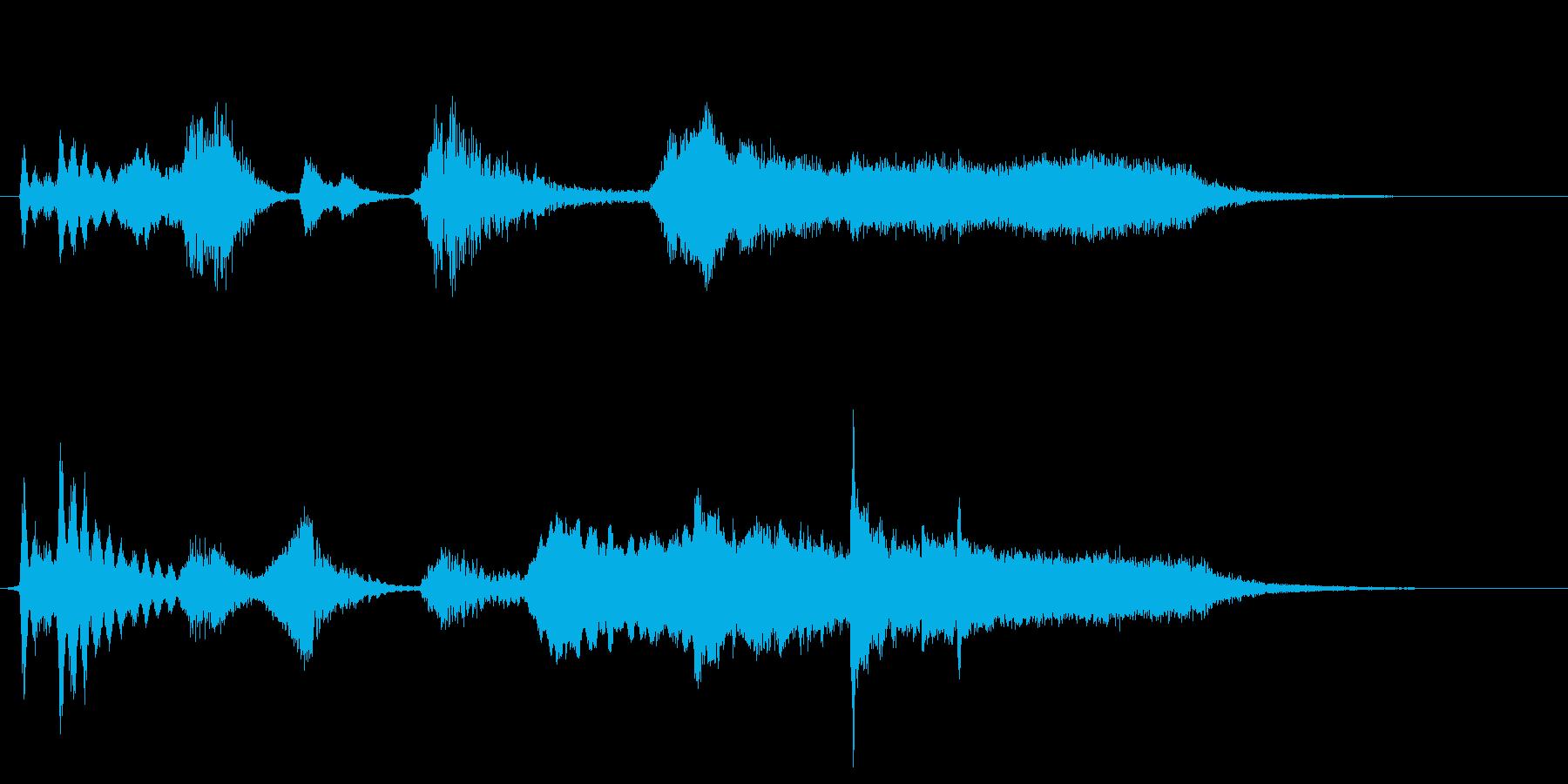 ホラー系の効果音の再生済みの波形