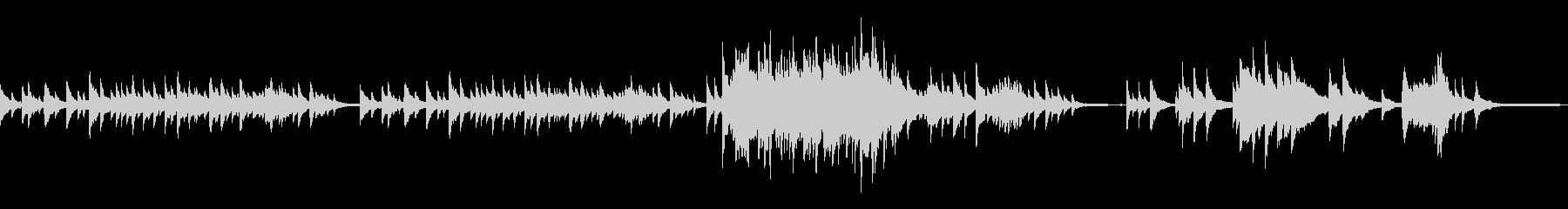 シンプルで切ないピアノ曲の未再生の波形