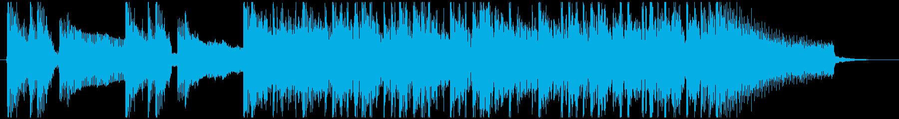 スラップベースが効果的なジングルの再生済みの波形
