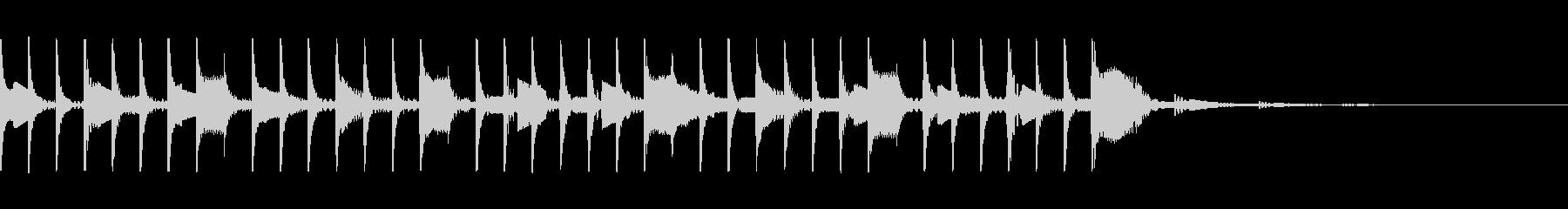 コンピュータ ピコピコ(処理する音)の未再生の波形