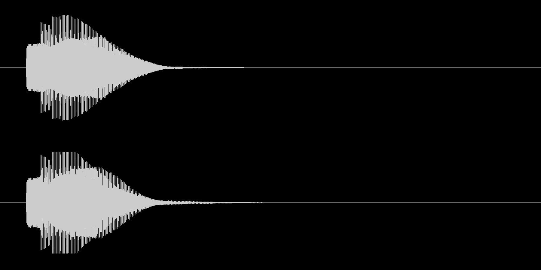 シンプルな決定音02 ピコーン ゲームの未再生の波形