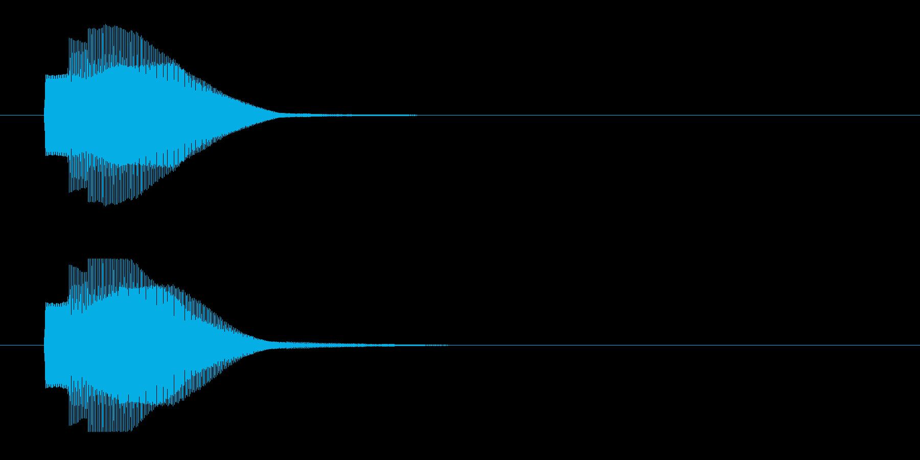 シンプルな決定音02 ピコーン ゲームの再生済みの波形