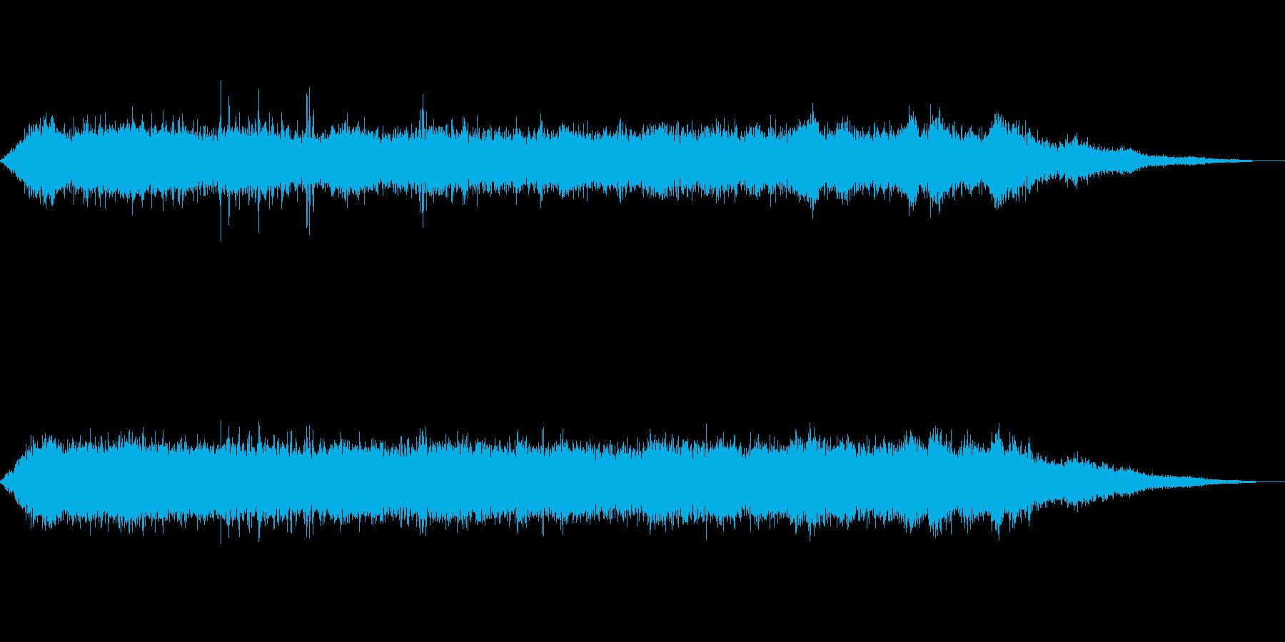 海 波 浜辺 海岸 カモメ等の環境音08の再生済みの波形
