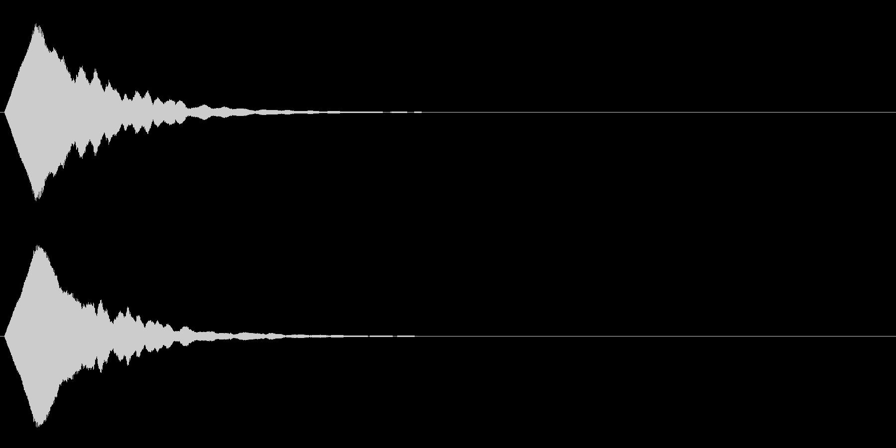 キーン・ピーン 光が射すような効果音の未再生の波形