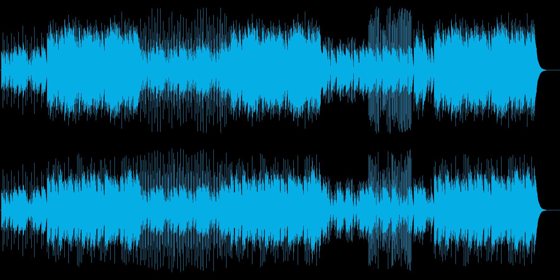 ファンタジー世界の伝承をイメージした曲の再生済みの波形