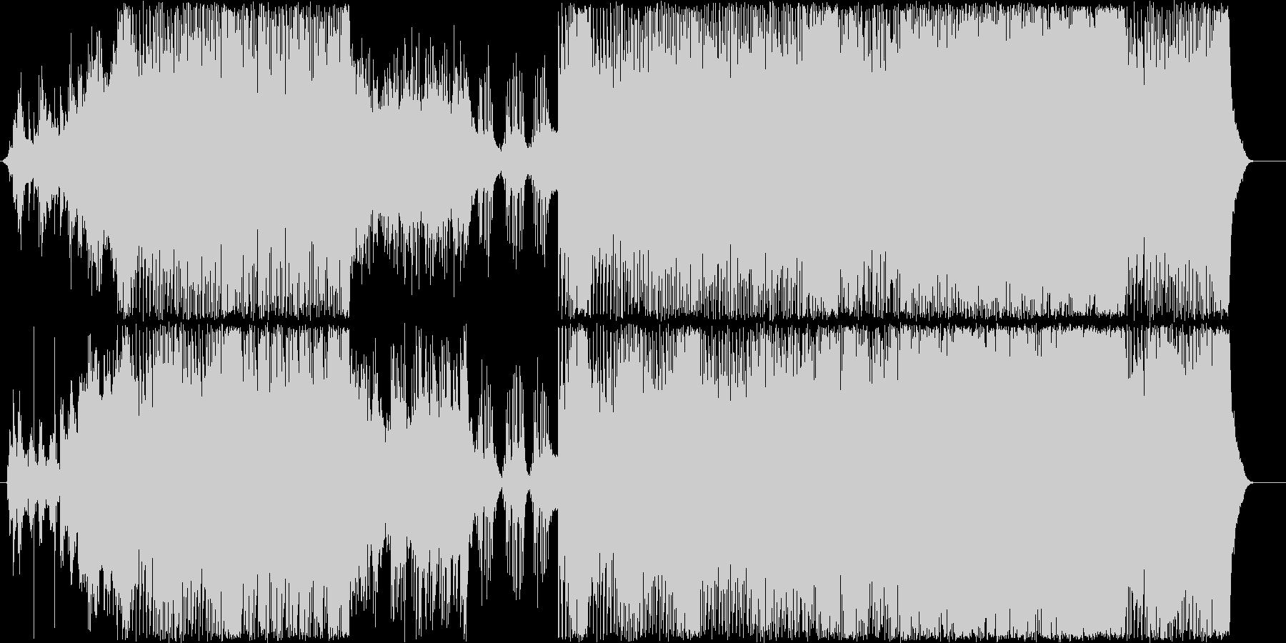和風ハウス的なダンス系ミュージックの未再生の波形