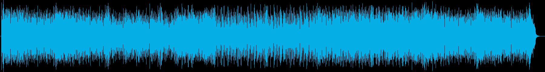 沖縄民謡風の陽気なポップスの再生済みの波形