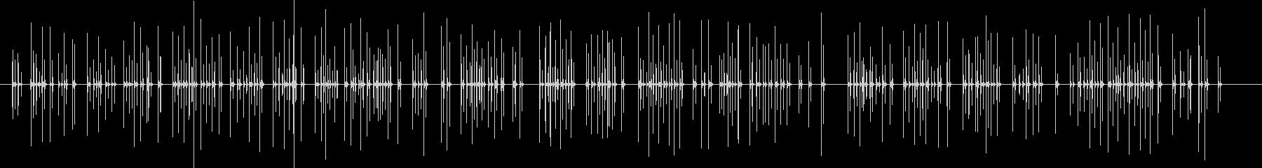 パソコンのキーボードを打つ音 41秒の未再生の波形