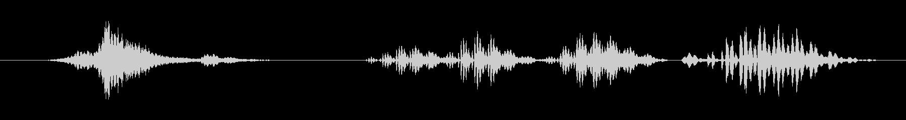 特撮 ガラガラ通知01の未再生の波形