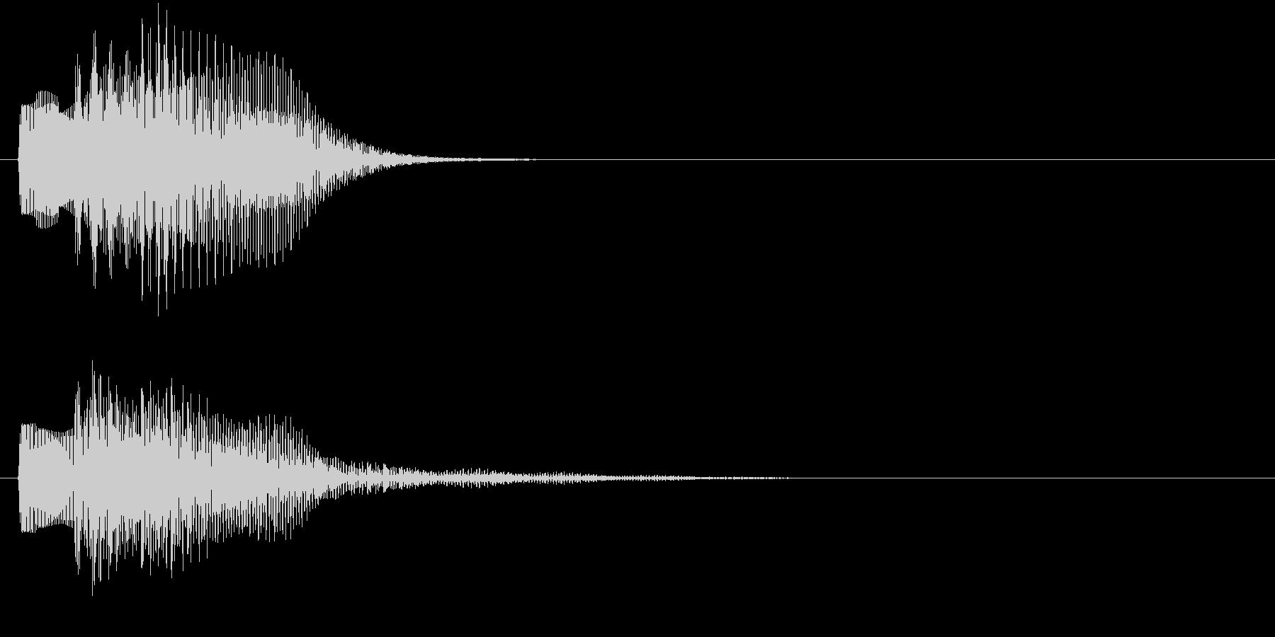 ピララン(キャンセル音)の未再生の波形