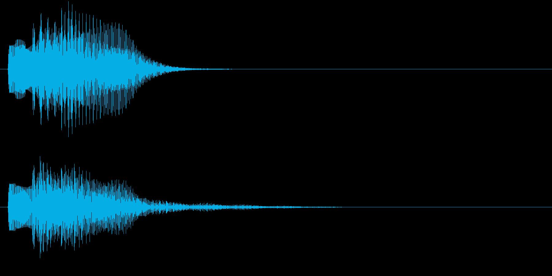 ピララン(キャンセル音)の再生済みの波形