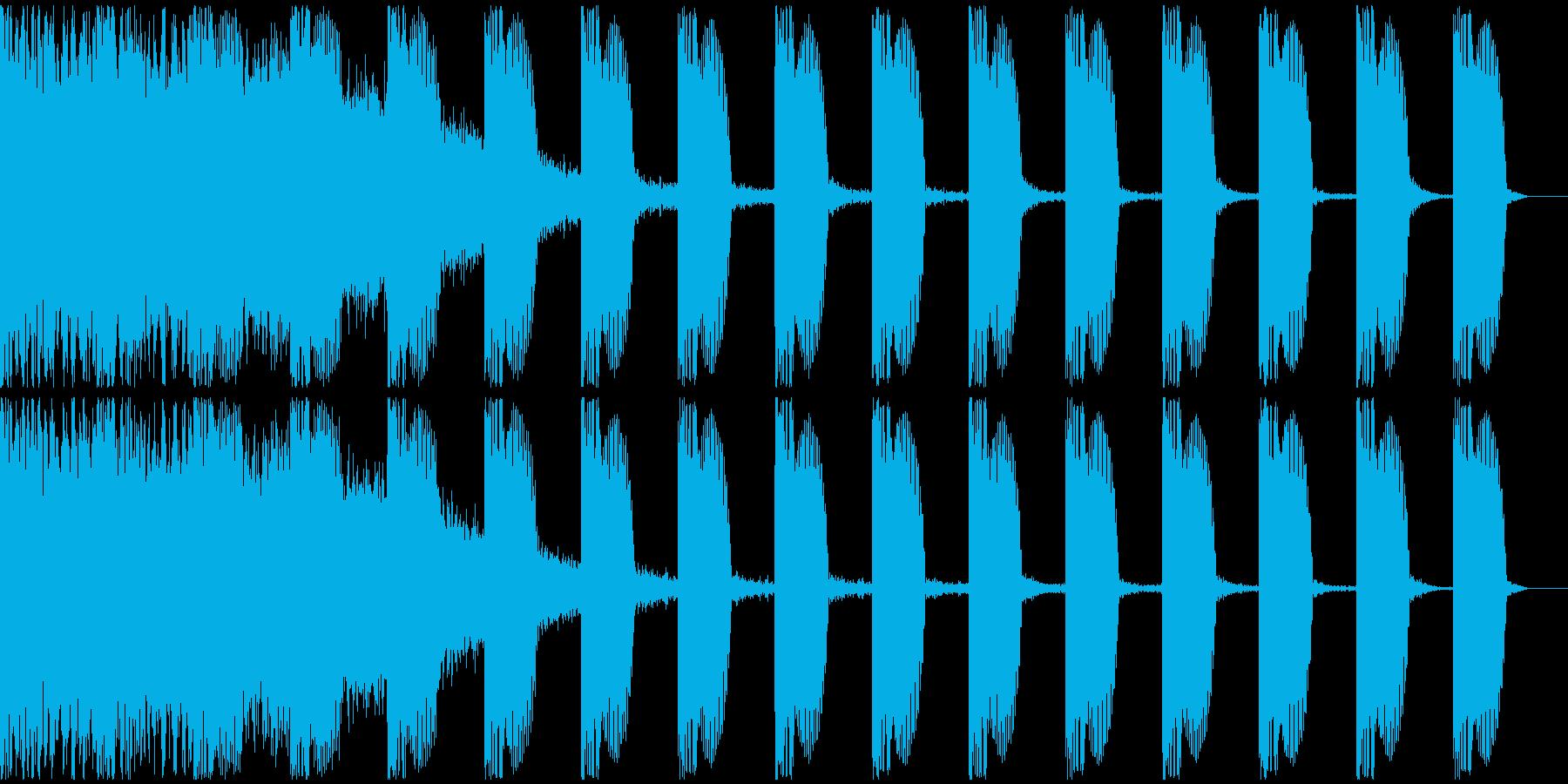 【EDM】ロング9、ショート1の再生済みの波形