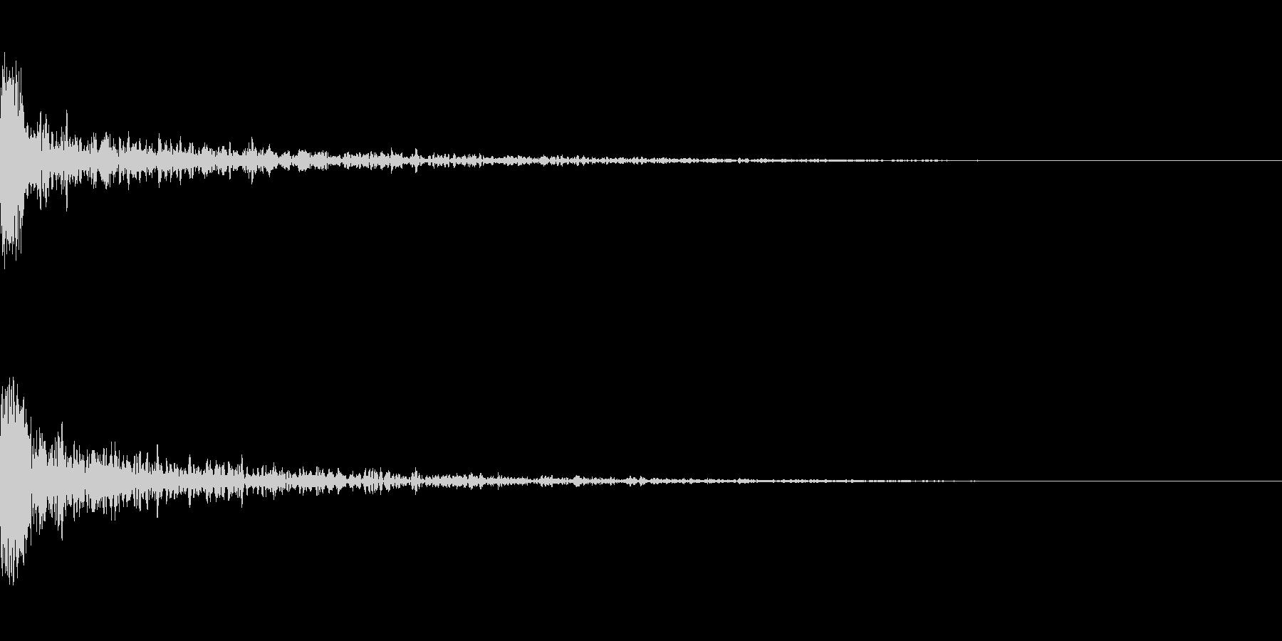 ドーン-26-1(インパクト音)の未再生の波形