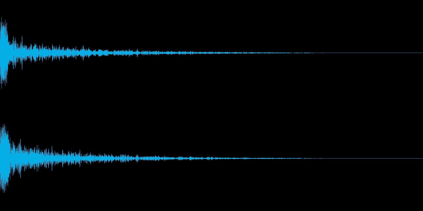 ドーン-26-1(インパクト音)の再生済みの波形