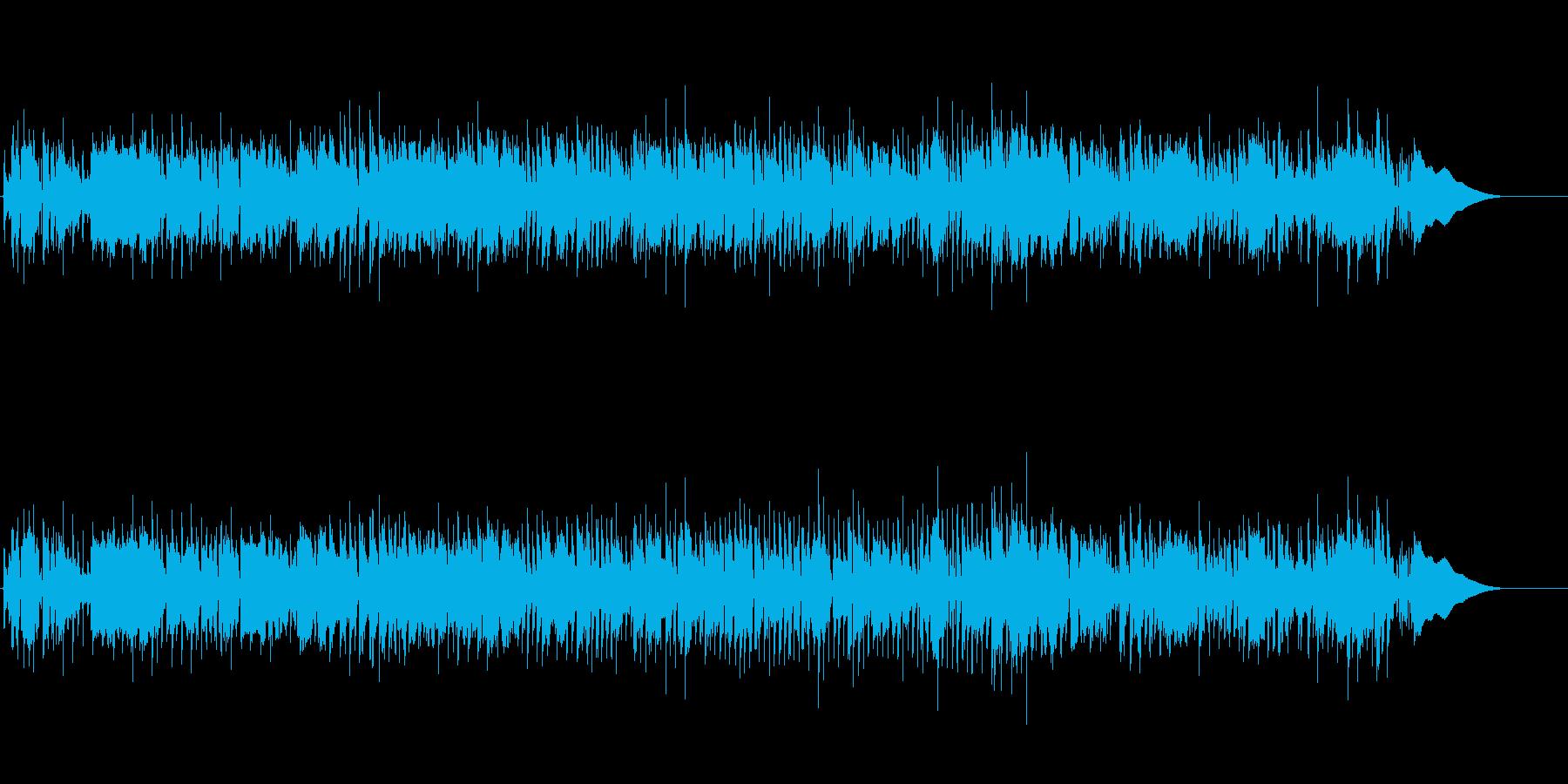 ロックな雰囲気なロカビリー風BGMの再生済みの波形