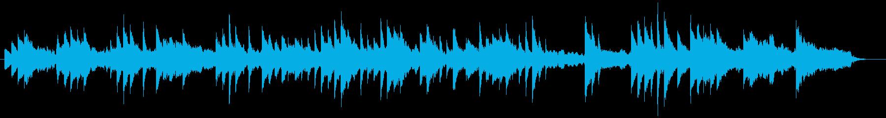 ヒーリング、リラクゼーションなピアノ曲の再生済みの波形