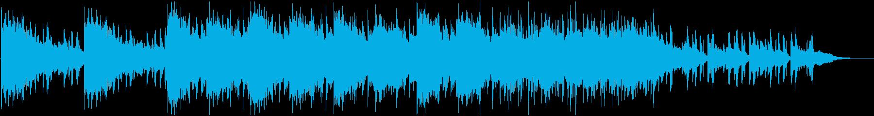 不気味で不穏なBGMの再生済みの波形