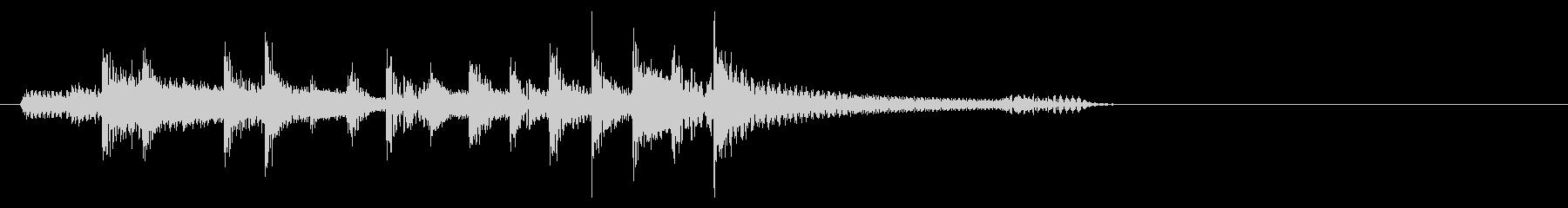 ファンク系ジングル、ベースとドラムの未再生の波形