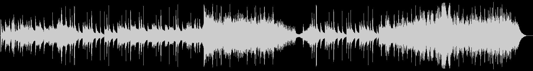 幻想的なハープとストリングスの未再生の波形